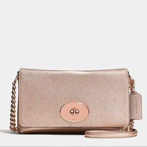 Coach Metallic Rose Crossbody Clutch